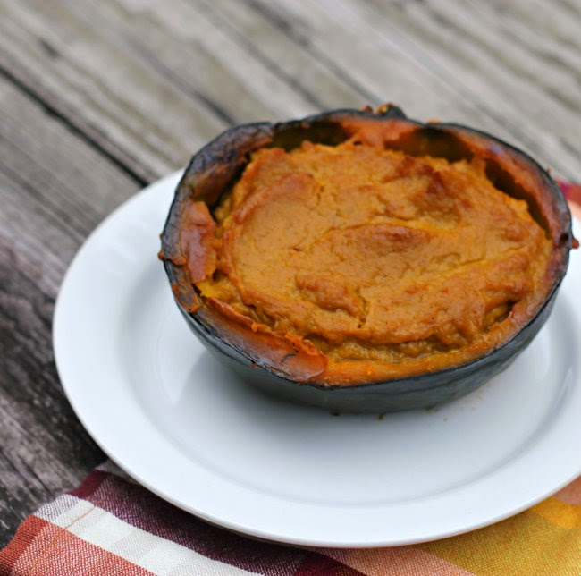 Twice Baked Brown Sugar Buttercup Squash