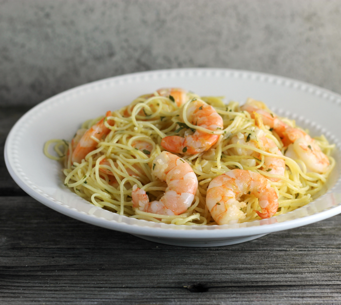 One Pot Garlic Shrimp and Pasta