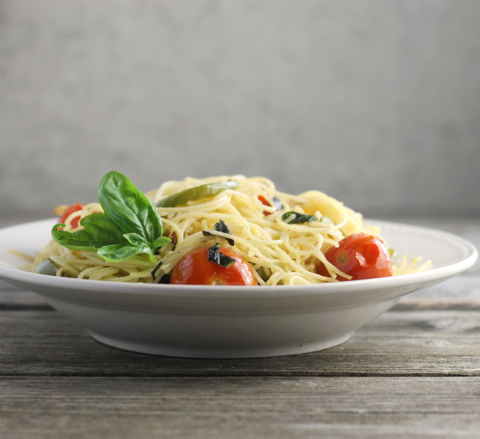 Cherry Tomato Basil Angel Hair Pasta Words Of Deliciousness