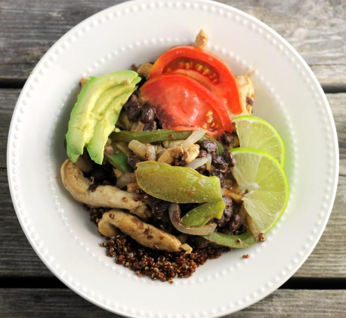 Southwest Chicken Breast Strips Quinoa Bowls