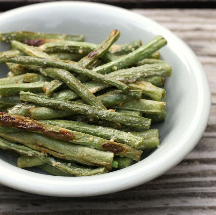 Roasted Parmesan Green Beans - Words of Deliciousness