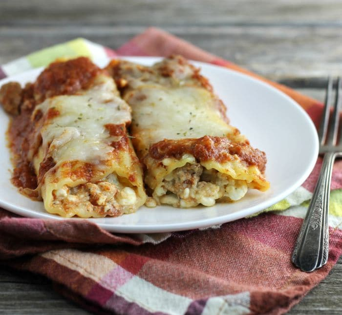 Baked Italian Sausage Manicotti - Words of Deliciousness