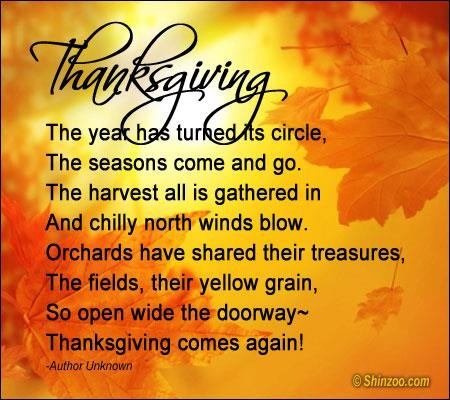 Thanksgiving poems 15 Collection Of Inspiring Quotes