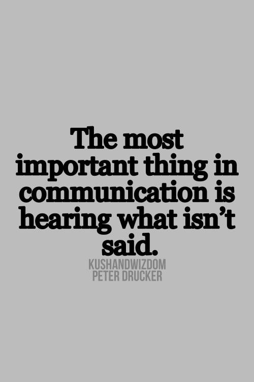 Peter drucker, quotes, sayings, communication, said