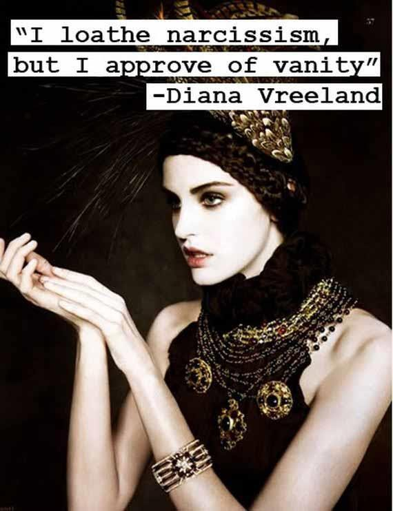 I loathe narcissism but i approve of vanity - Collection ...