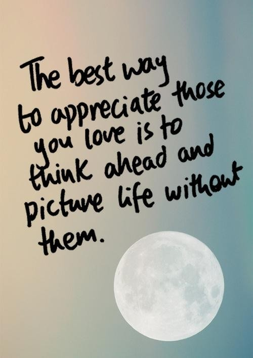 appreciation quotes sayings love