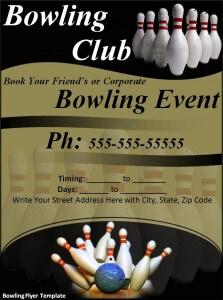 Bowling Flyer Template 223x300  Bowling Flyer Template Free