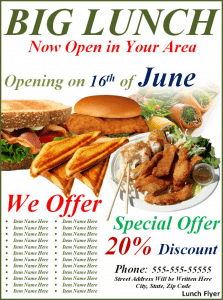 example of flyer