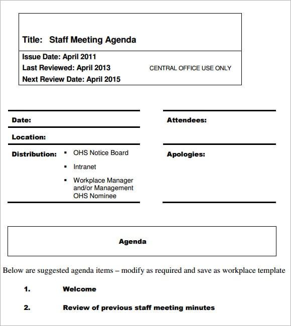 meeting agenda template 6