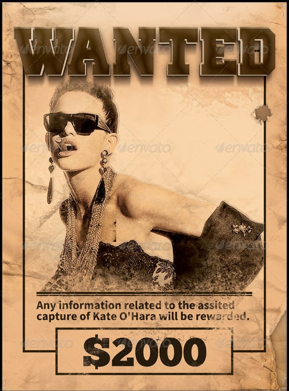 wanted poster template 2