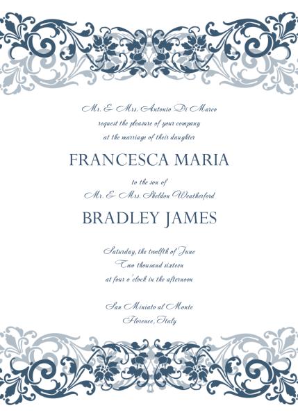 wedding invitation template 1