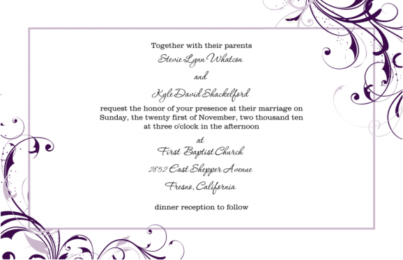 wedding invitation template 5