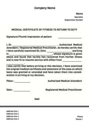 medical certificate 2
