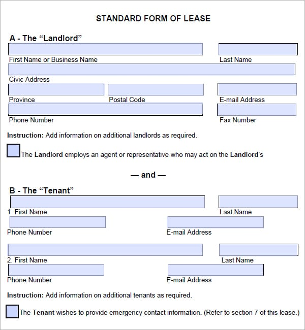 lease agreement image