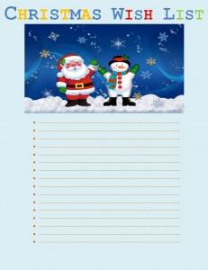 Christmas Wish List Template Free Word Templates