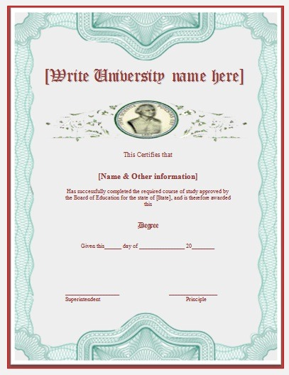2+ Degree Certificate Templates | Free Word Templates