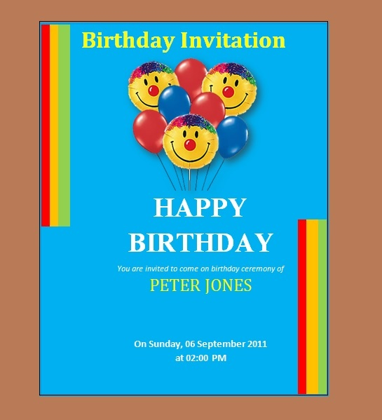 This Birthday Invitation Template Is Effectively Significant While Taking  Print Out After Completion. You Do Not Need To Define Printing Setting  While ...  Birthday Invitation Template Word