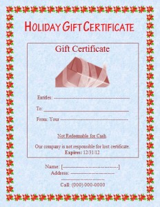 Funday-Gift-Certificate Template