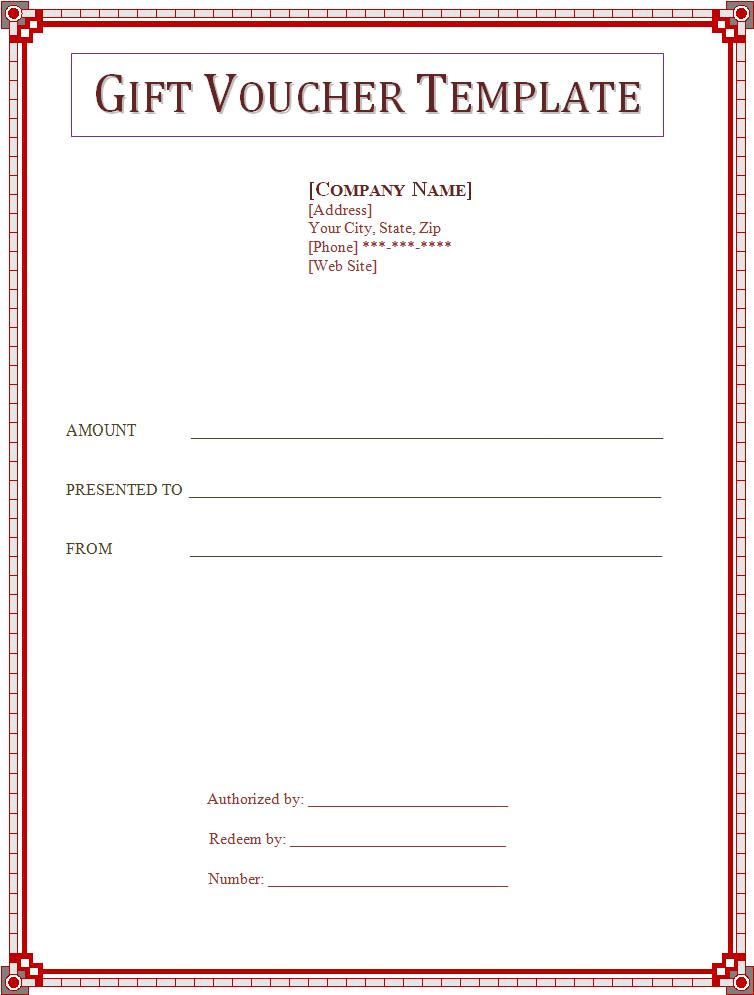 Complimentary Voucher Template  Money Voucher Template