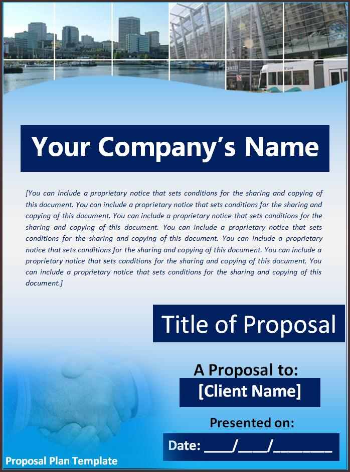 Proposal Plan Template Business Plan Proposal Template  Plan