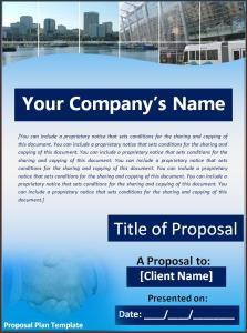 proposal plan template