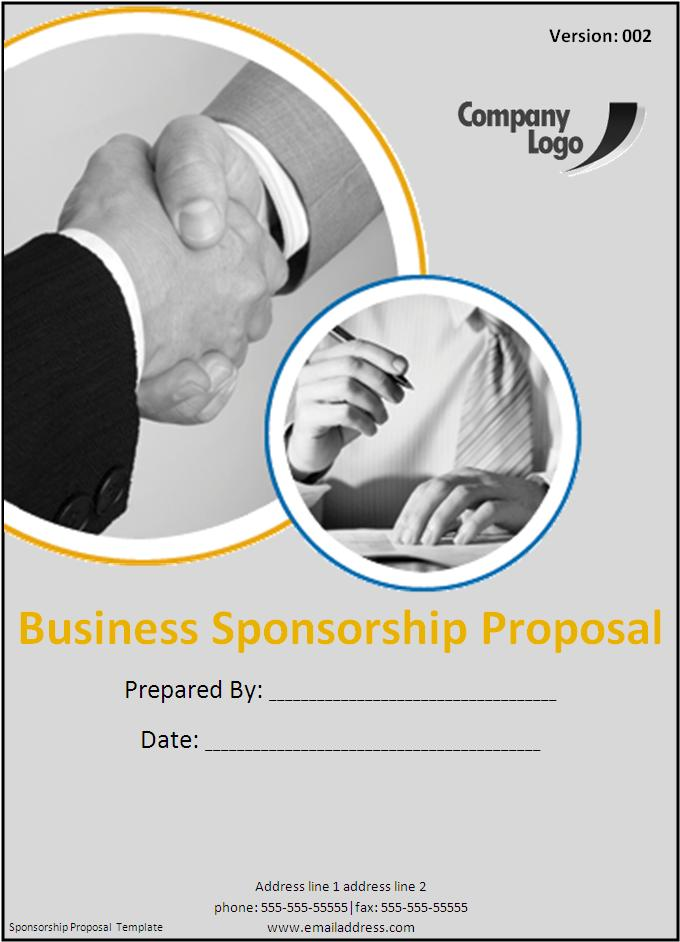 To All Appearance, The Main Content Of Sponsorship Proposal Template May  Also Include What Kind Of Services Can Be Sponsored And How The  Arrangements Will ...
