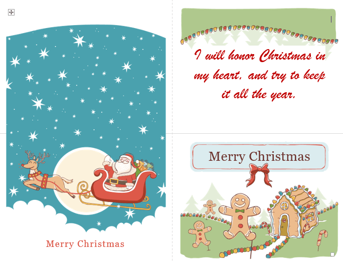 christmas card template for word