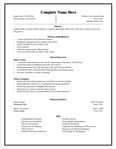 Fitness-Trainer-Resume-Template