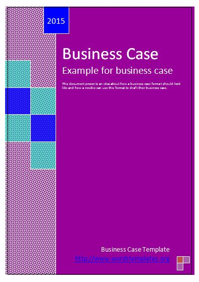 Business case template free word templates template for business case wajeb Gallery