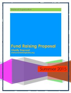 Fund Raising Proposal Template