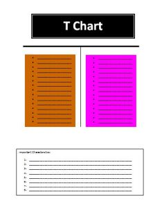 T-Chart Template