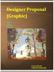 graphic designer proposal template