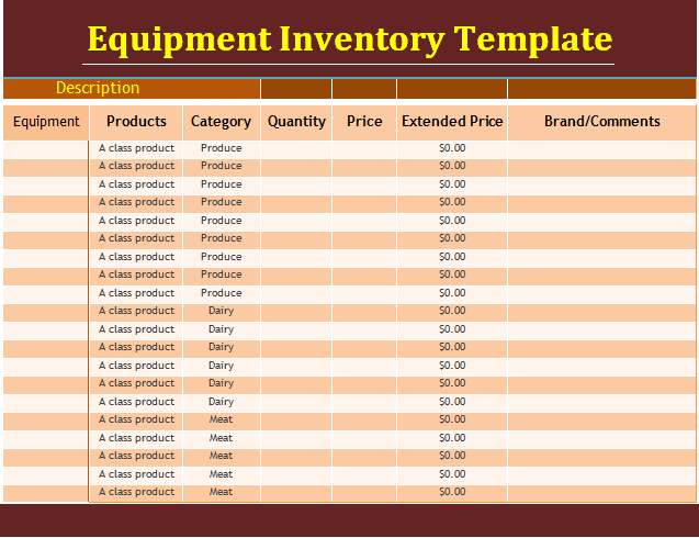 14+ Equipment Inventory Templates | Free Word Templates