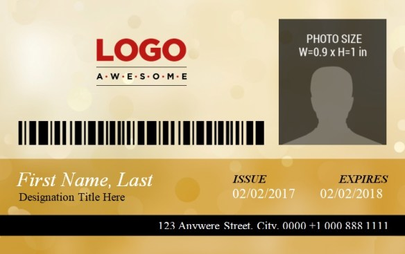 ID Badge Template 3
