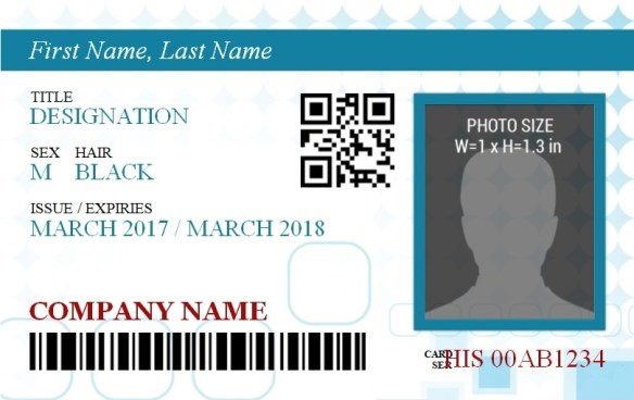 ID Badge Template 6