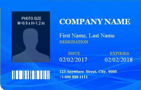 ID Badge Template