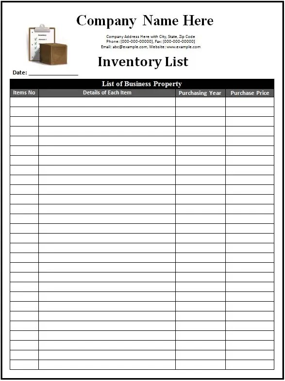 inventory management templates 1