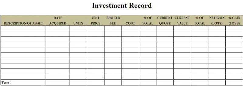 3 investment templates excel