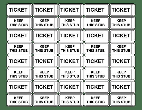 4 raffle ticket templates