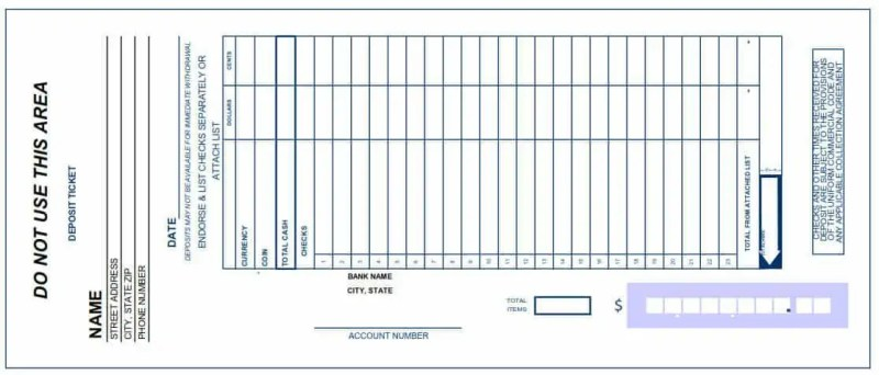 bank deposit slip template 2