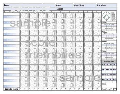 baseball score sheet template 1