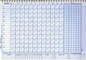 Baseball Scorecard Sheet Template 3