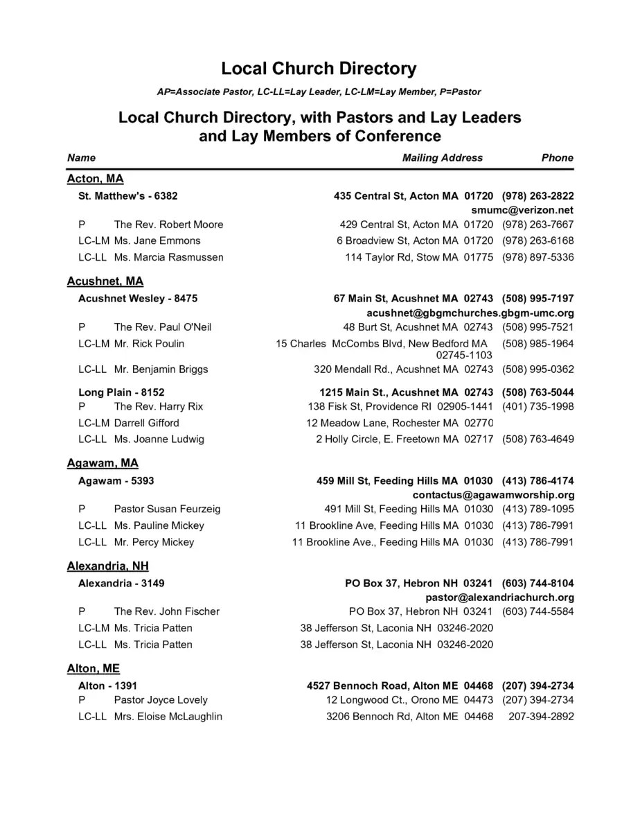 church directory template - Acur.lunamedia.co