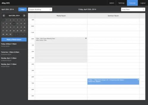 room scheduling template