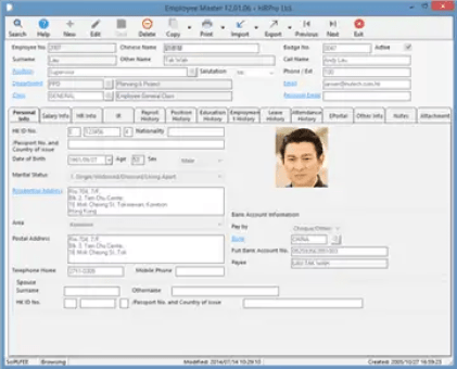 3 Employee Profile Templates - Excel xlts
