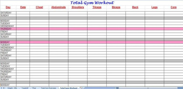 excel workout template 3