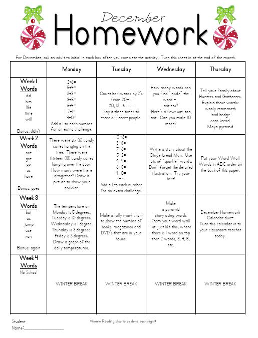 homework calendar preview 3