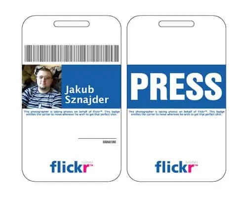 5 id badge templates excel xlts for Photographer id card template