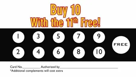 Bill Of Sale Example >> 5 Punch Card Templates - Excel xlts