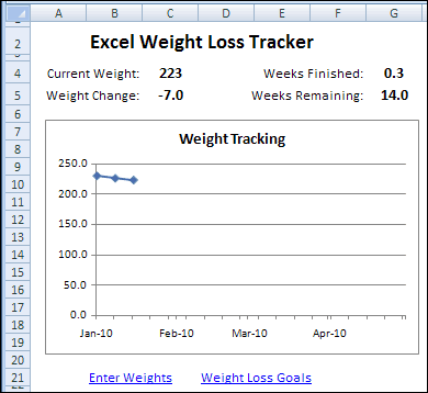 weight loss challange template 3